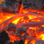 metal in a forge